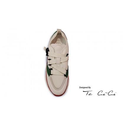Contrast Applique Sneakers